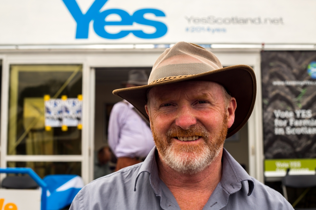 Neale McQuistin, Farming For Yes, at the Royal Highland Show